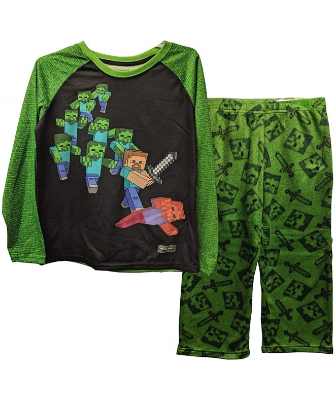 Minecraft Battling Zombies Fleece Pajama
