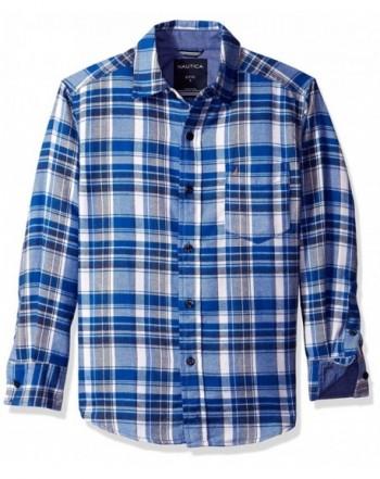 Nautica Sleeve Flannel Woven Shirt