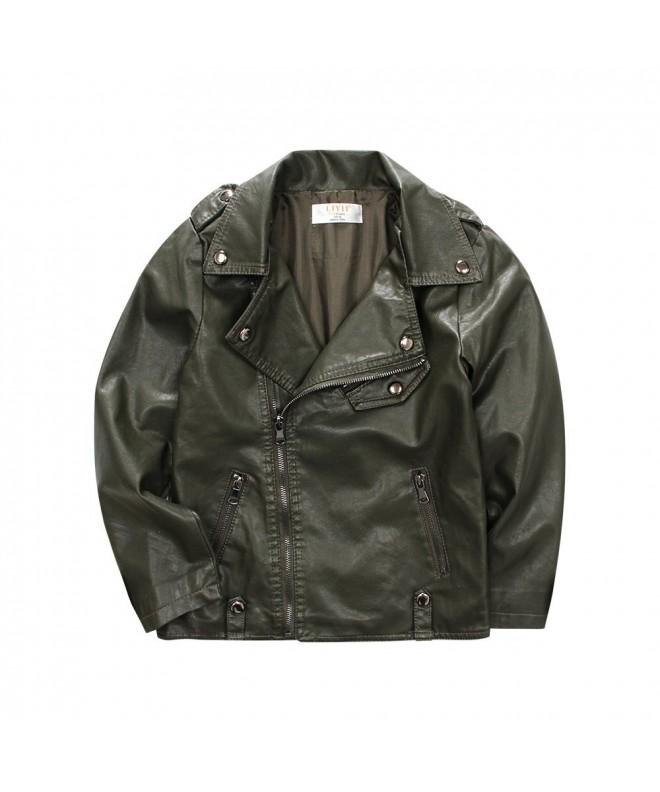 LJYH Kids Leather Jacket Biker