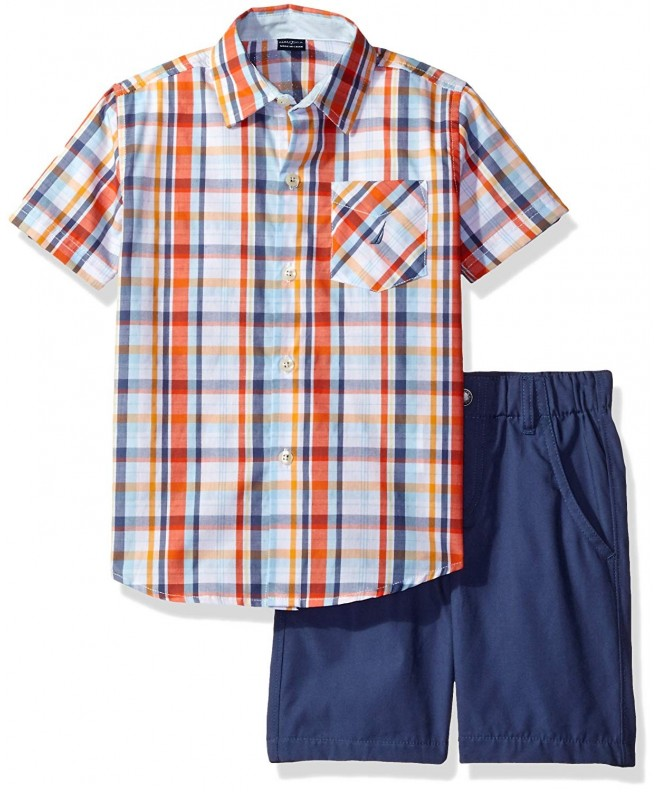 Nautica Piece Sleeve Shirt Shorts