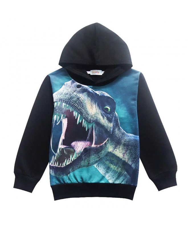 Qzrnly Toddler Dinosaur Printed Sweatshirt