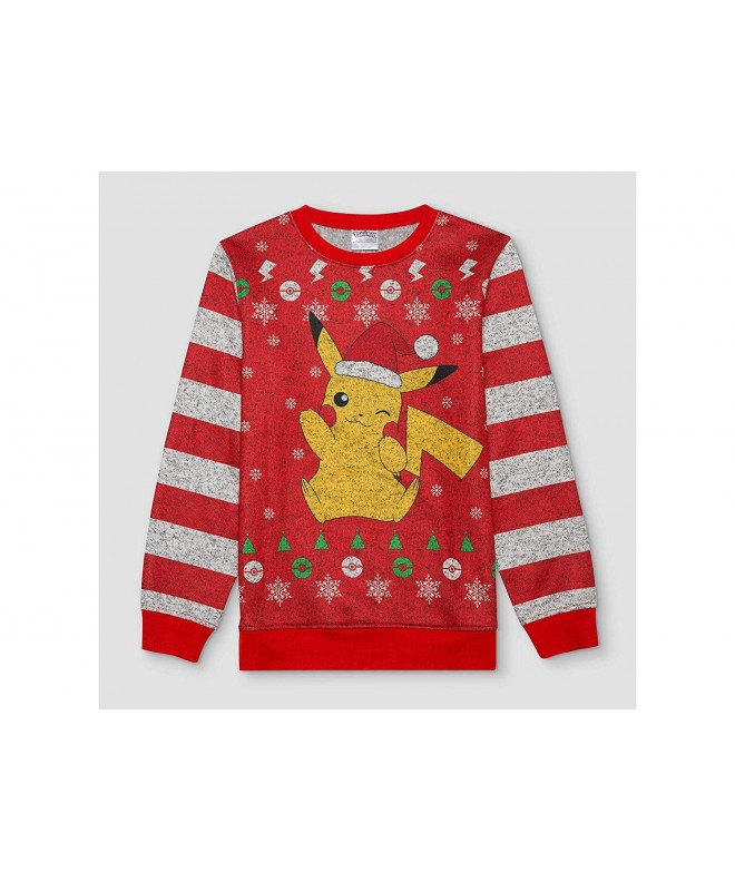 Pokemon Graphic Sleeve Pullover Sweater