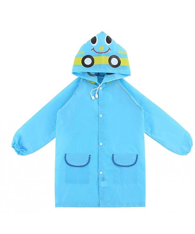 Mengshas Childrens Waterproof Hooded Raincoat