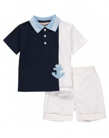Boys Piece Short Navy Anchor