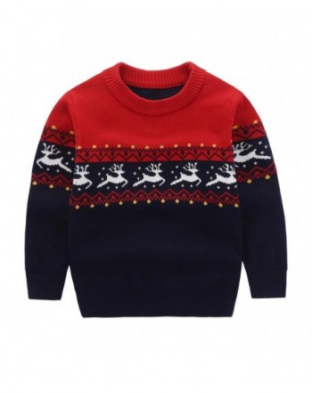 Motteecity Boys Cartoon Pullover Sweater