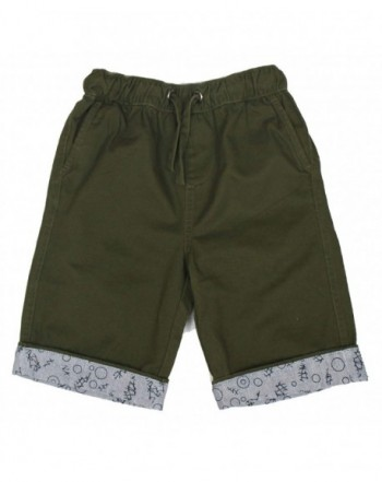 Bienzoe Shorts Cotton Twill Elastic