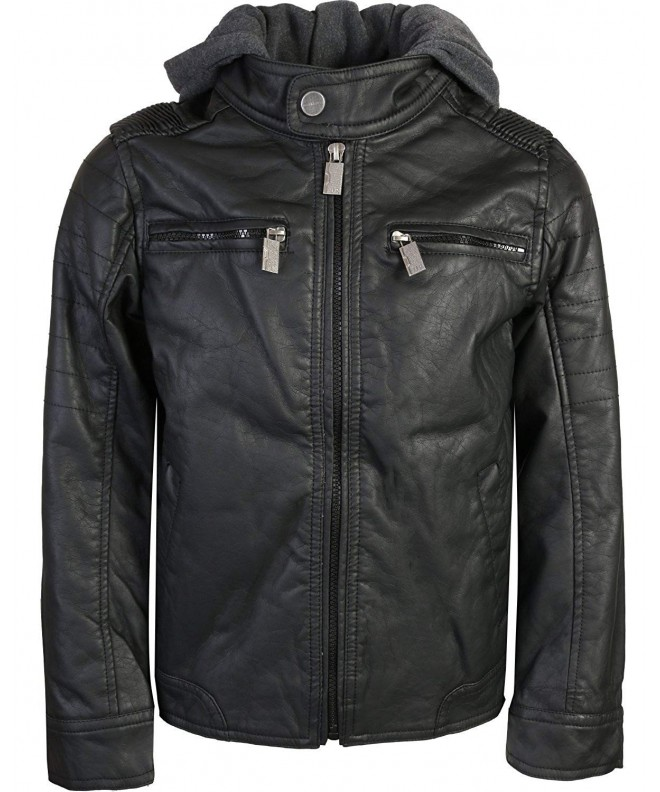 Urban Republic Leather Jacket Fleece