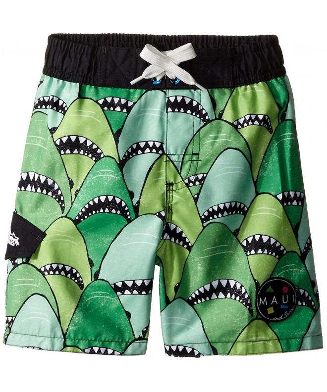 Maui Sons Green Trunk Shark