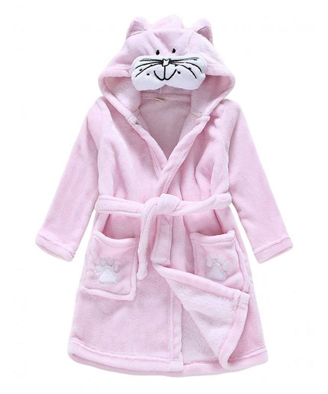 Dramaticbuying Fleece Bathrobe Hooded Fluffy