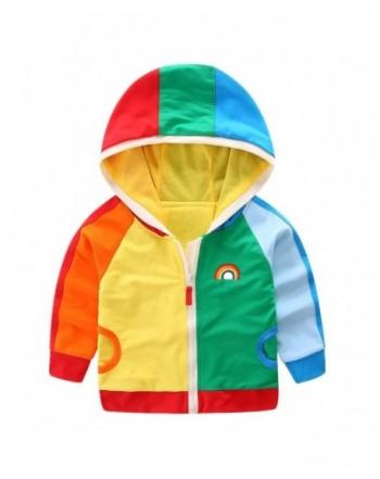 LittleSpring Hooded Jacket Zipper Rainbow