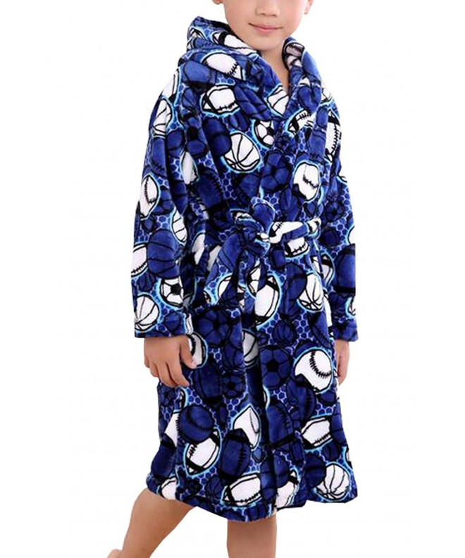 Suplove Flannel Childrens Pajamas Bathrobes