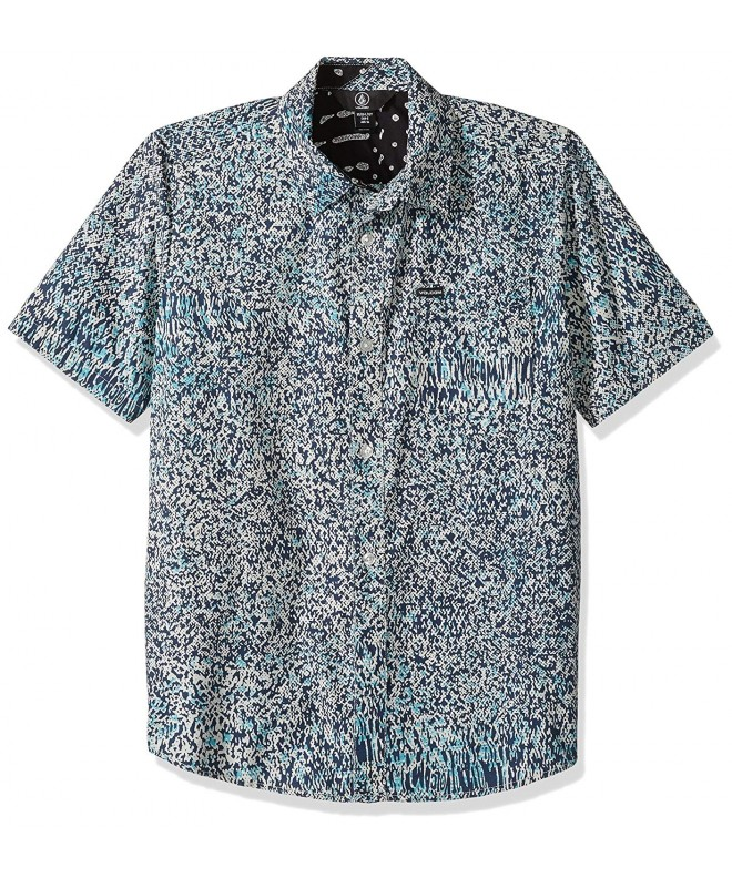 Volcom Short Sleeve Print Button