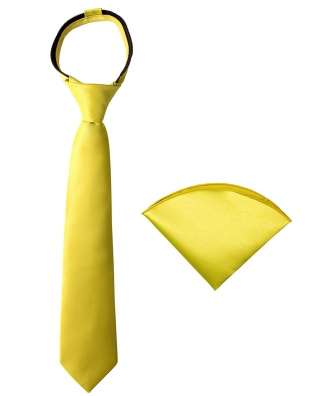 Spring Notion Zipper Necktie Handkerchief