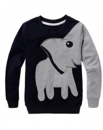 Little Hand Elephant Pullover Sweatshirts