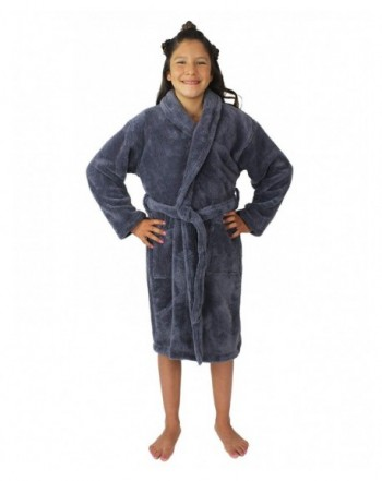 Plush Fleece Hooded Collar Bathrobe