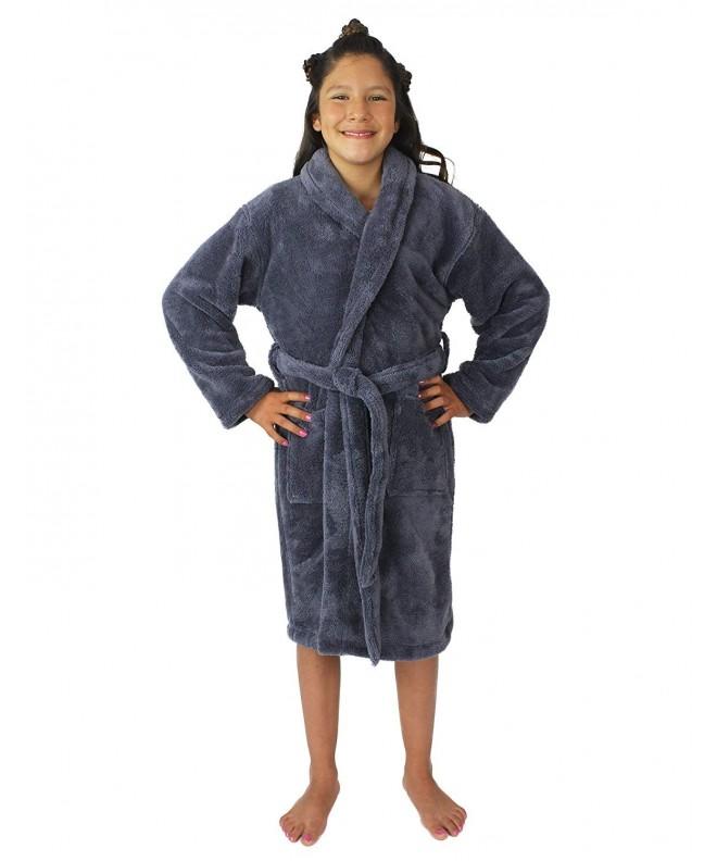Plush Fleece Hooded Collar Bathrobe