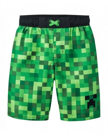 Mojang Minecraft Boys Swim Trunk