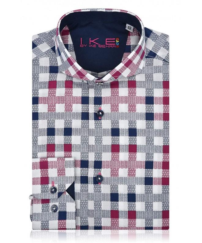 Ike Behar Sleeve Burgundy Checker