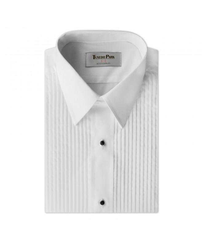 Tuxedo Shirt White Laydown Collar