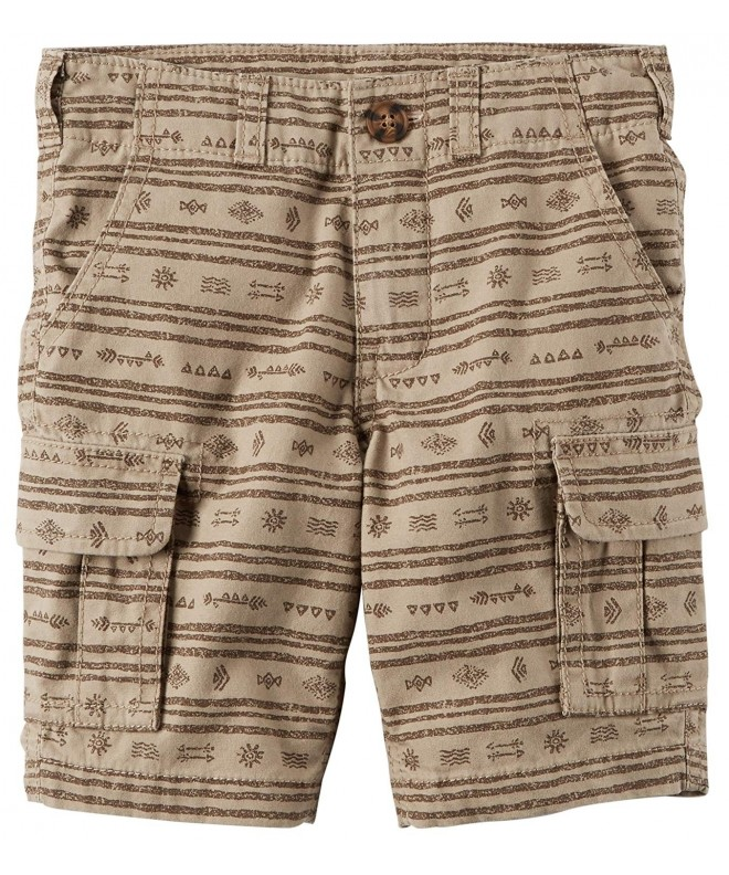 Carters Printed Cargo Shorts Brown