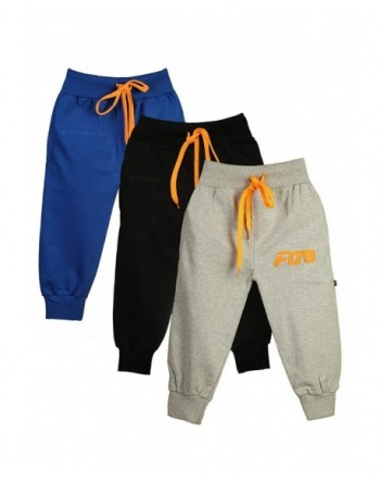 Girls Toddlers Cotton Joggers Pack Orange