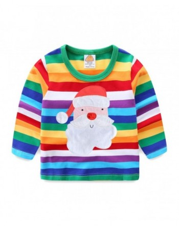 Mud Kingdom T Shirts Rainbow Stripe