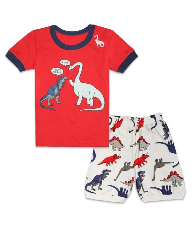 WWEXU Pyjamas Sleepwear Loungewear Dinosaur