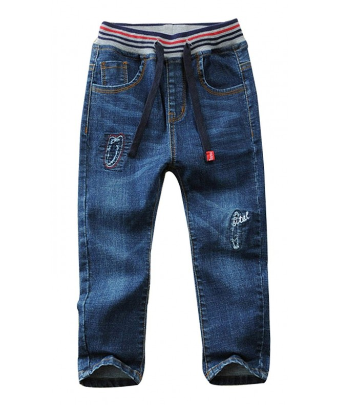 Toddler Elastic Washed Length Straight