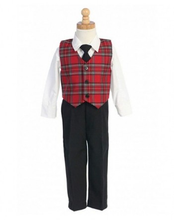 Boys Christmas Suit Clothing Plaid