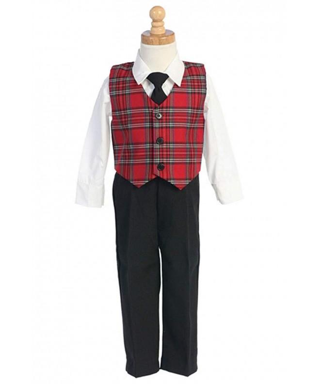 Boys Christmas Suit Clothing Plaid