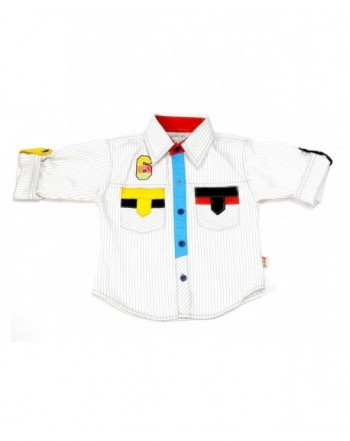 Designer Boys' Button-Down Shirts On Sale