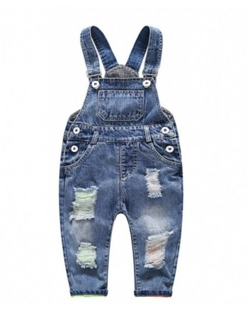 Kidscool Little Girls Ripped Overall