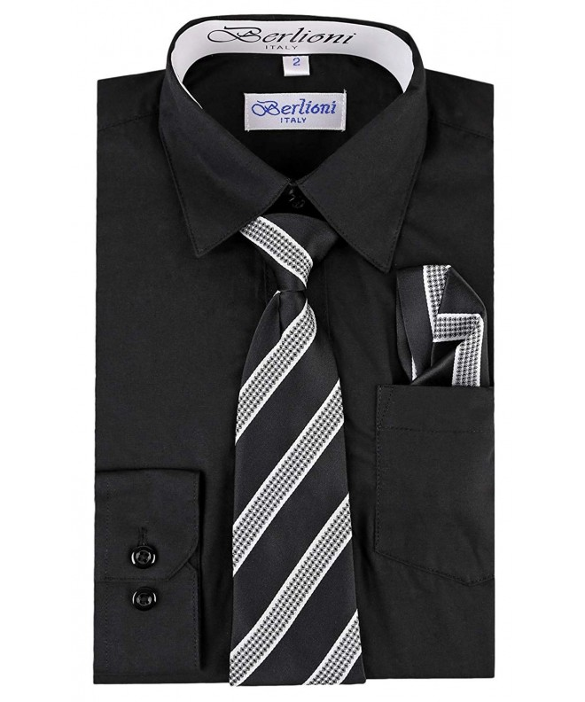 Berlioni Dress Shirt Necktie Hanky