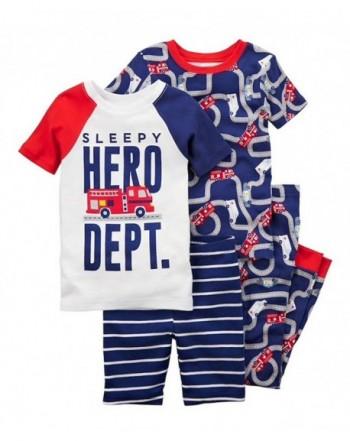 Carters Boys Firetruck 4 Piece Pajama