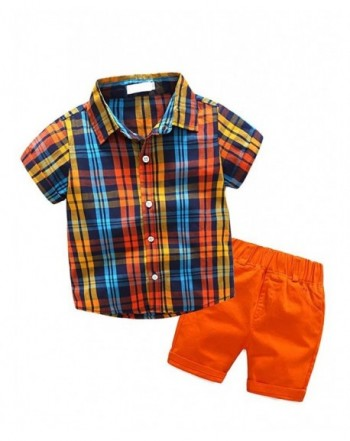 Abolai Little Pieces Set Plaid Shorts