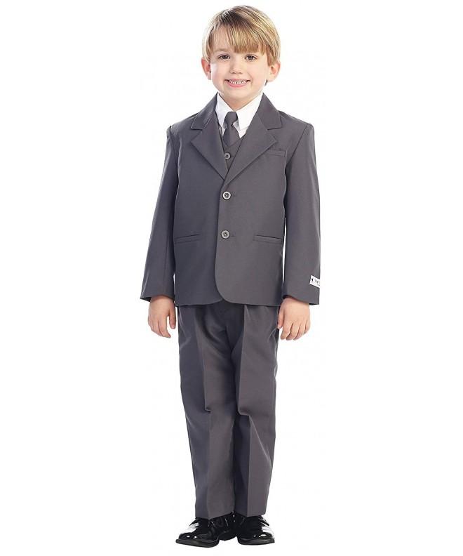 5 Piece Boys 2 Button Dress Suit