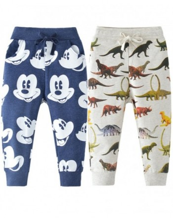 REWANGOING Cartoon Drawstring Elastic Sweatpants