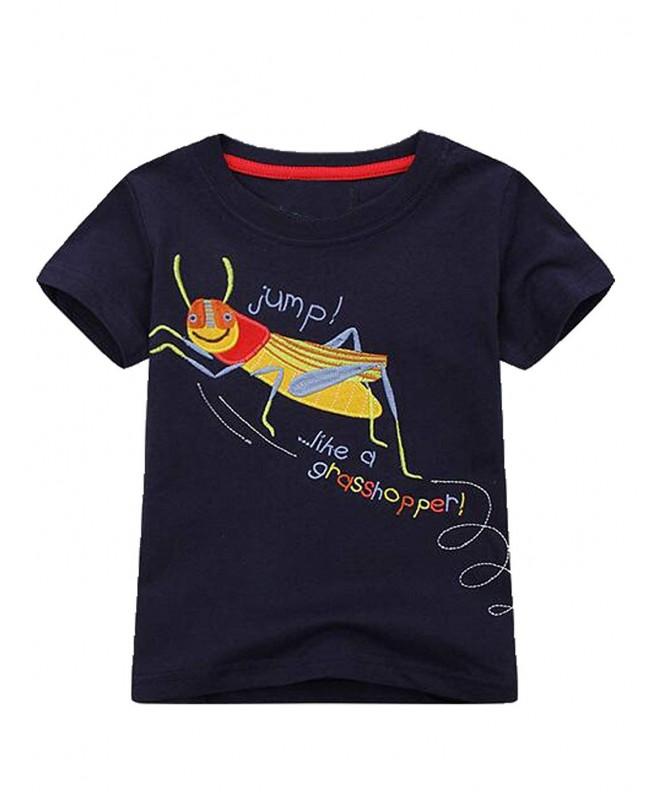 Cartoon Sleeve Shirts Applique Lovely