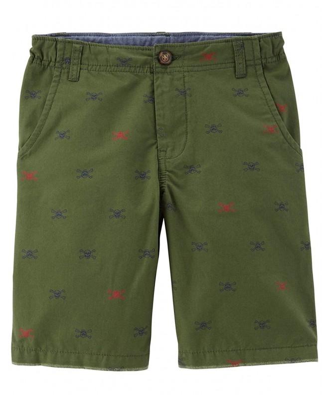 Carters Schiffli Skull Flat Front Shorts
