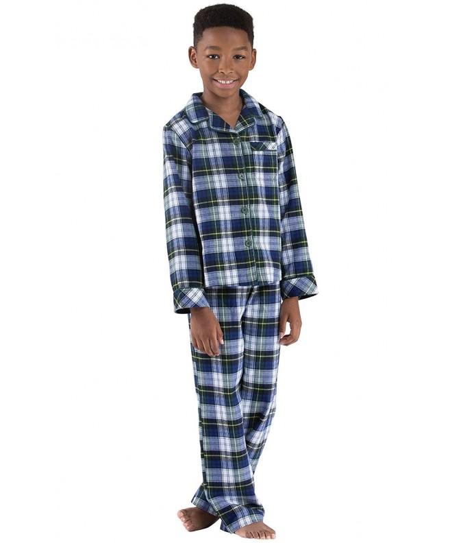 PajamaGram Heritage Plaid Button Front Pajamas