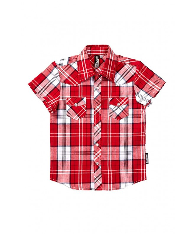 Knuckleheads Clothing Plaid Button Sleevevbaby