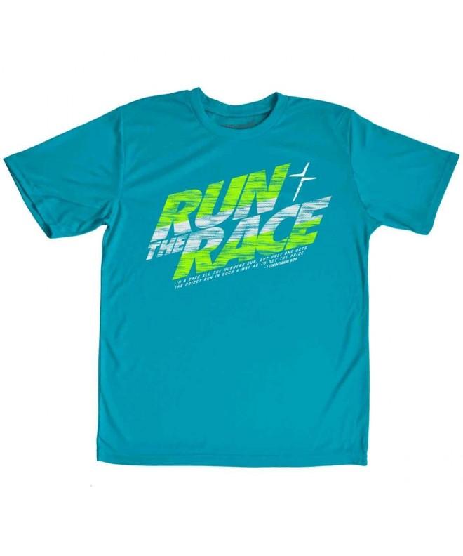 Kerusso Run Race Kids Active T Shirt Large
