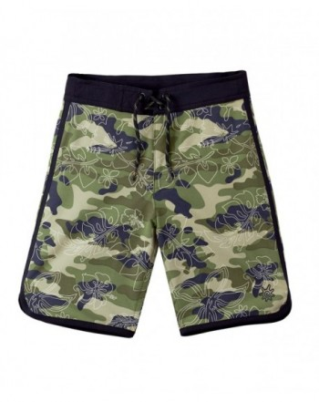 UV SKINZ Retro Board Shorts Army