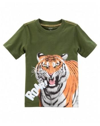 Carters Boys Short Sleeve Tiger