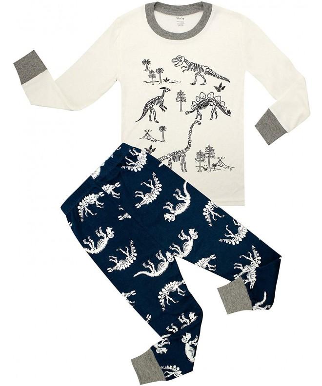 shelry Children Pajamas Dinosaur Sleepwear