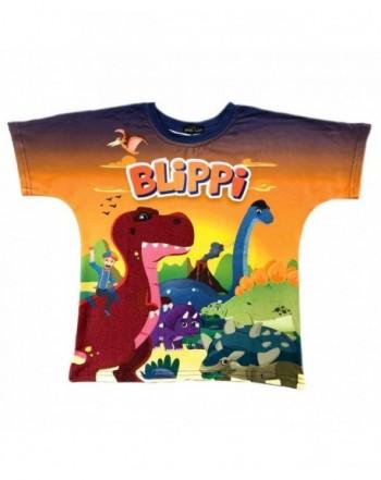 Blippi Child Dinosaur Shirt Kids