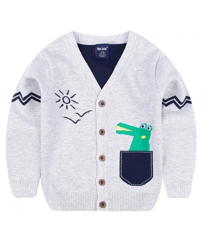 CUNYI Boys Crewneck Cotton Contast Color Knit Sweater Pullover Long Sleeve