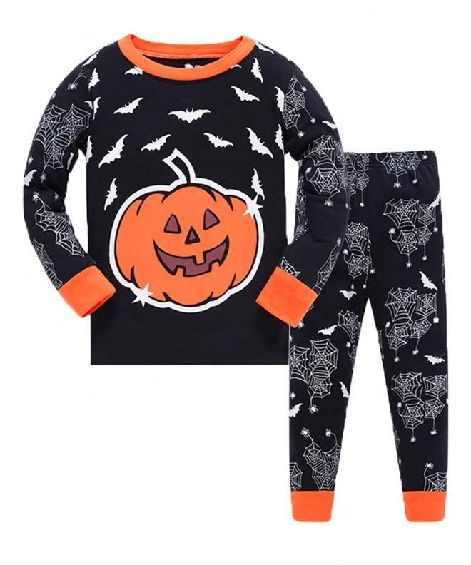 Halloween Pumpkin Pajamas Toddlers Clothes