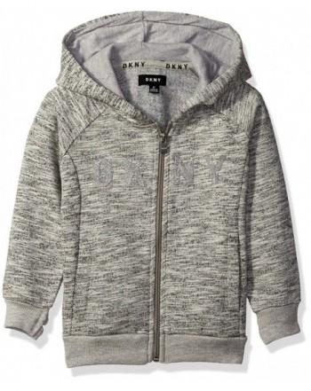 DKNY Marled Fleece Front Hoody