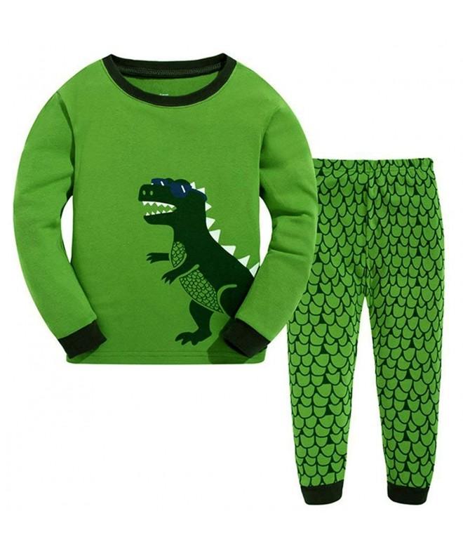 GSVIBK Pajamas Sleepwear Toddler Dinosaur